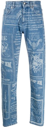 Versace Rodeo print jeans