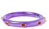 Amrita Singh Reem Lavender Jade & Tourmaline Bangle Bracelet