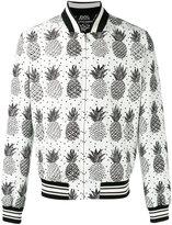 Dolce & Gabbana pineapple print bomber jacket - men - Polyester - 46