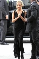 Barbel Lace-Trim Maxi Dress in Black