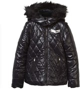 Diesel Black Quilted Front Puffer Coat