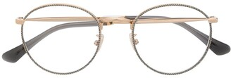 Jimmy Choo Glitter Round-Frame Glasses