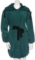 Carolina Herrera CH Long Sleeve Funnel-Neck Jacket