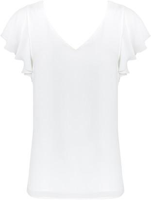 Wallis Ivory Frill Sleeve Top