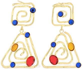 Rixo Shea Earrings W/ Acrylic Gemstones