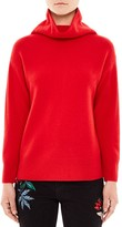 Sandro Carly Cowl Neck Merino Wool Sweater