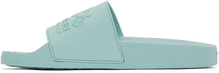 Thumbnail for your product : Coach 1941 Blue Rubber 3D Logo Slides