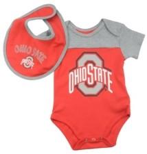 Outerstuff Ohio State Buckeyes Newborn Tackle Bib and Bootie Set