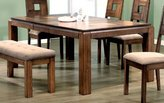 Monarch Specialties Veneer Dining Table with An 18-Inch Leaf