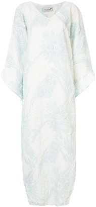 Bambah Antonia embossed kaftan dress