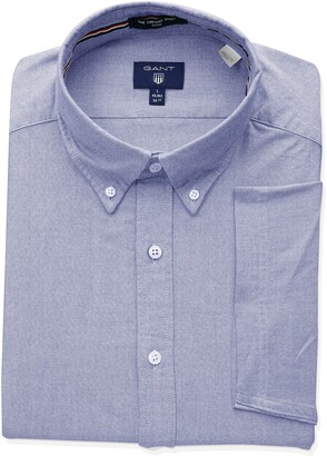 Gant Men's The Fitted Oxford Short Sleeved Shirt