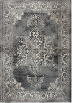 Panache Rizzy Home Transitional Central Medallion Distressed Geometric Rug