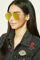Forever 21 FOREVER 21+ Mirrored Aviator Sunglasses