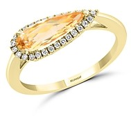 Bloomingdale's Citrine & Diamond Ring in 14K Yellow Gold - 100% Exclusive