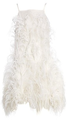 Cult Gaia Shannon Feathered Mini A-Line Dress