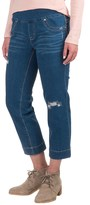 Specially made Patched Pull-On Capri Jeggings (For Women)
