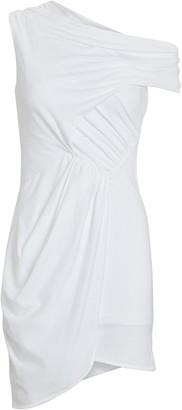 IRO Ermett Asymmetrical Jersey Mini Dress