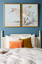 Anthropologie Gilded Heron Diptych Wall Art
