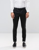 Jack and Jones Skinny Suit Pants In Black