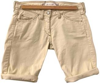 Etoile Isabel Marant Ecru Cotton Shorts