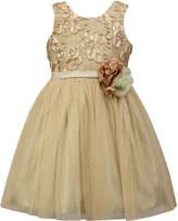 Sorbet Soutache-Mesh Fit & Flare Dress, Size 2-6x