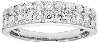 14k Gold 1 Carat T.W. IGL Certified Diamond Pave Wedding Band