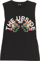 The Upside Chambal Printed Cotton-jersey Tank - Black