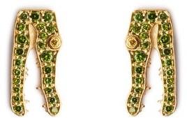 Marc Alary Diamond & 18kt Gold Earrings - Green