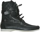 Balenciaga Leather lace up boots