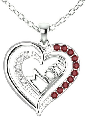Essence Jewelry Country Of Garnet, Topaz Sterling Silver Round Short Pendent by Essence Jewelry