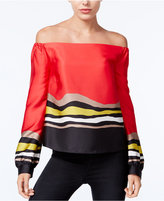 Rachel Roy Striped Off-The-Shoulder Top, Only at Macy's