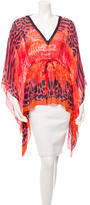 Roberto Cavalli Silk Printed V-Neck Top