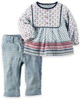 Carter's 2-Piece Boho Tunic and Denim Pant Set