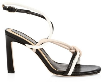Joie Oki Knotted Colorblock Leather Sandals