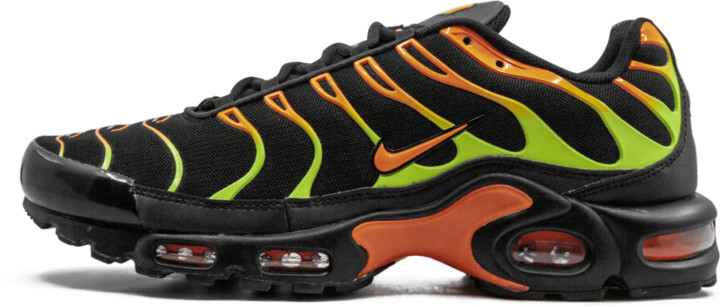 nike air max plus black volt total orange