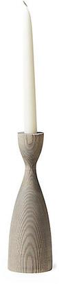 "Pantry Candlestick - Gray - Farmhouse Pottery - 6"""