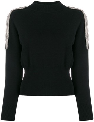 Christopher Kane embellished shoulder jumper