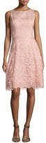 Aidan Mattox Bato Sleeveless Lace Sheath Dress, Apricot