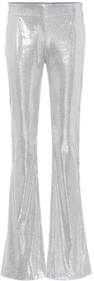 Galvan Galaxy flared sequinned pants