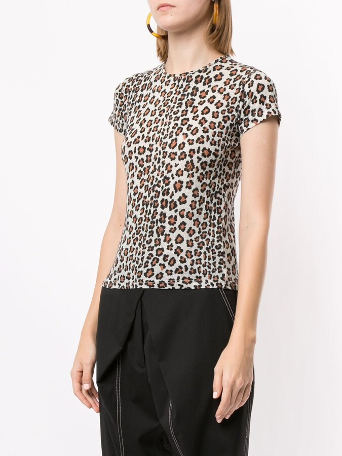 Thumbnail for your product : Fendi Pre-Owned leopard printed T-shirt