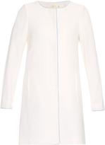 Goat Buckingham collarless wool-crepe coat