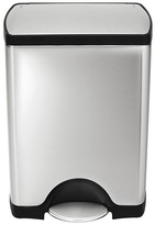 Simplehuman 30 Liter Rectangular Step Trash Can in Fingerprint-Proof Brushed Stainless Steel