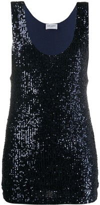 Saint Laurent Degrade sequin tank top