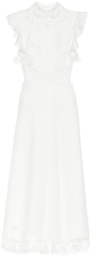 Zimmermann Peggy linen and cotton midi dress