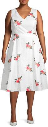 Calvin Klein Collection Floral Fit-&-Flare Dress