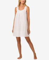 Eileen West Lace-Trim Cotton Nightgown
