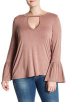 Hip Gigi Bell Sleeve Flounce Shirt (Plus Size)