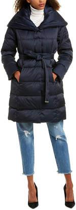 Tahari Long Puffer Down Coat