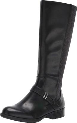 LifeStride Womens Xtra-Wc Black Wide Calf High Shaft Boots 8 W