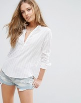Abercrombie & Fitch Collarless Shirt